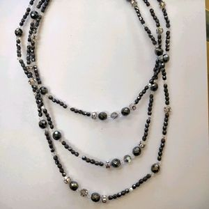 Crystalare vintage long layering beaded necklace